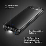 CoolrealL-Powerbank 15600mAh inkl Taschenlampenfunktion USB-Powerbanks