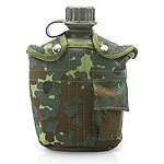 US Feldflasche im Military Look, 1 Liter woodland