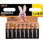 Duracell Batterien AA Plus Power Vorteils-Set 12 + 4 Stück gratis Duracell