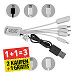 2er-Set + 1 gratis dazu = 3x Universal Ladekabel 5in1 iPhone Samsung
