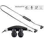 auvisio In-Ear-Stereo-Headset mit Magnet, Bluetooth 4.1 auvisio In-Ear-Stereo-Headsets mit Bluetooth