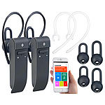 Callstel 2er-Set 2in1-Live-Übersetzer & In-Ear-Mono-Headset, Bluetooth, App Callstel 2in1-Live-Übersetzer und In-Ear-Mono-Headsets