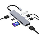 Callstel USB-Hub DeX Smartphone-PC-Adapter, USB C PD, 3xUSB 3.0, HDMI, SD, 60W Callstel DeX Smartphone-PC-Adapter und USB-Hubs