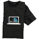 infactory T-Shirt mit leuchtender LED-WiFi-/WLAN-Anzeige Größe S infactory LED-T-Shirts