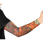 "infactory Tattoo-Armling ""Tiger & Dragon"", einmaschiger Netzstoff, mit Gummizug infactory Tattoo-Armlinge Paare"