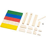 Playtastic 263-teiliges Domino-Set mit Holzsteinen & Action-Elementen Playtastic