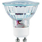 Luminea LED-Spotlight, Glasgehäuse, GU10, 1,5 W, 230 V, 120 lm, warmweiß Luminea