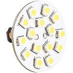 Luminea LED-Stiftsockellampe G4 (12V), 15 SMD LED ww, horizontal, 10er Luminea LED-Stifte G4 (warmweiß)