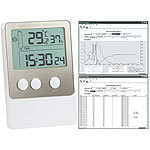 infactory USB-Temperatur- & Luftfeuchtigkeits-Datenlogger V2 mit PC-Software infactory Thermo-/Hygrometer-Datenlogger