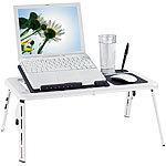 General Office Notebooktisch mit 2 USB-Lüftern, klappbar General Office Notebooktische mit Lüfter