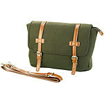 Carlo Milano Messenger-Bag im Querformat, in Filz- & Leder-Optik Carlo Milano Messenger-Bags