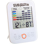 PEARL Digital-Hygrometer/Thermometer mit Schimmel-Alarm und LCD-Display PEARL Hygrometer Thermometer mit Schimmel Alarm