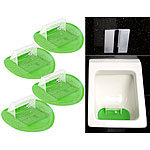 PEARL 4er-Set Lustige Fußball-Urinal-Siebe, 18,5 x 19,5 cm, universell PEARL Urinal Fussball