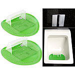 PEARL 2er-Set Lustige Fußball-Urinal-Siebe, 18,5 x 19,5 cm, universell PEARL Urinal Fussball