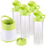 Rosenstein & Söhne 2in1-Smoothie- & Standmixer mit 4 Trinkbechern, BPA-frei, 500 ml Rosenstein & Söhne Smoothie-Maker