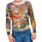 "infactory Tattoo-Shirt ""Panther & Dragon"" infactory Tattoo-Shirts"