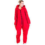 PEARL basic Jumpsuit aus flauschigem Fleece, rot, Größe S PEARL basic Jumpsuits