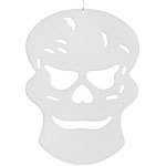 infactory Glow-in-the-dark Halloween-Fensterdeko Totenkopf, 26 x 19 cm infactory Halloween-Dekorationen Glow-in-the-Dark