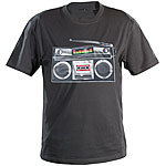 infactory Ghettoblaster-T-Shirt mit Equalizer, Gr. S infactory LED-T-Shirts