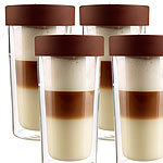 "Cucina di Modena 4er-Set Isolierbecher ""Coffee-to-go"" aus Glas, für bis zu 250 ml Cucina di Modena Glas-Thermobecher"