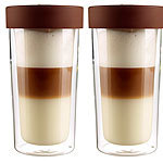 "Cucina di Modena 2er-Set Isolierbecher ""Coffee-to-go"" aus Glas, für bis zu 250 ml Cucina di Modena Glas-Thermobecher"