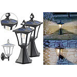 Royal Gardineer 2er-Set Solar-LED-Stand- & Wandlaternen, PIR-Sensor, 300 lm Royal Gardineer