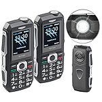 simvalley MOBILE 2er-Set stoßfeste Outdoor-Handys, Dual-SIM-Funktion, Bluetooth, IP67 simvalley MOBILE