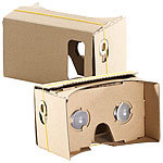 "PEARL 2er-Set Virtual-Reality-Brillen, Bausatz für Smartphones (4""-5"") PEARL Virtual-Reality-Brillen für Smartphones"