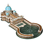 Playtastic Faszinierendes 3D-Puzzle Petersdom mit Petersplatz in Rom, 56 Teile Playtastic 3D-Puzzles