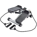 PEARL sports Ministepper mit Expander und Trainingscomputer PEARL sports Fitness Stepper