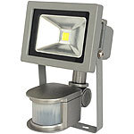 Luminea COB-LED-Fluter mit Metallgehäuse, 10 W, IP44, PIR, 4200 K Luminea