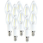Luminea LED-Filament-Kerze, 1,8W, E14, warmweiß, 200 lm, 360° 10er Set Luminea LED-Filament-Kerzen E14 (warmweiß)
