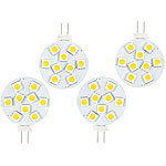 Luminea High-Power G4-LED-Stiftsockel m. SMD5050-LEDs, 1,8 Watt, weiß, 4er-Set Luminea LED-Stifte G4 (neutralweiß)