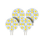Luminea High-Power G4-LED-Stiftsockel mit SMD5050-LEDs, 2,4W, 4000 K, 4er-Set Luminea LED-Stifte G4 (neutralweiß)