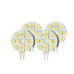 Luminea High-Power G4-LED-Stiftsockel mit SMD5050-LEDs, 2,4 W, weiß, 4er-Set Luminea LED-Stifte G4 (tageslichtweiß)