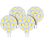 Luminea High-Power G4-LED-Stiftsockel mit SMD5050-LEDs, 3 Watt, weiß, 4er-Set Luminea LED-Stifte G4 (neutralweiß)
