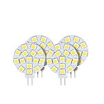 Luminea High-Power G4-LED-Stiftsockel, SMD5050-LEDs, 3 W, 5.400 K, 4er-Set Luminea LED-Stifte G4 (tageslichtweiß)