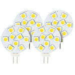 Luminea High-Power G4-LED-Stiftsockel, SMD5050-LEDs, G4, 1,8W, neutral,4er-Set Luminea LED-Stifte G4 (tageslichtweiß)