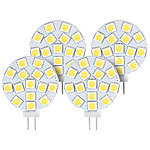 Luminea High-Power G4-LED-Stiftsockel, SMD5050-LEDs, 3 W, 5400 K, 4er-Set Luminea LED-Stifte G4 (tageslichtweiß)