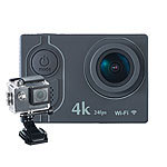 Somikon 4K-Action-Cam mit UHD-Video bei 24 fps, 16-MP-Sony-Sensor, IP68, WLAN Somikon UHD-Action-Cams