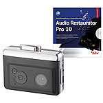 auvisio 2in1-Kassetten-Player zum Digitalisieren mit Audio Restaurator Pro 10 auvisio USB-Kassettenrecorder