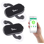 newgen medicals 2er-Set 2in1-Akku-Stimulator, EMS & Massage, Bluetooth, App-Steuerung newgen medicals