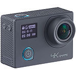 Somikon 4K-Action-Cam für UHD-Videos, 2 Displays, WLAN, 16MP-Sony-Sensor IP68 Somikon UHD-Action-Cams