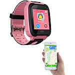 TrackerID Kinder-Smartwatch mit Telefon, Kamera, Chat- und SOS-Funktion, rosa TrackerID Kinder-Smartwatches mit GSM- & LBS-Tracking
