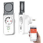 Luminea Home Control 2 Outdoor-WLAN-Steckdosen, Amazon Alexa & Google Assistant komp., 16 A Luminea Home Control Outdoor-WLAN-Steckdosen
