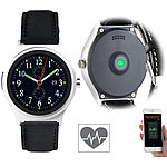 simvalley MOBILE Smartwatch mit Herzfrequenz-Messung, Bluetooth 4.0, für iOS & Android simvalley MOBILE Smartwatches mit Pulssensor für iOS & Android