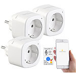 Luminea Home Control 3er-Set WLAN-Steckdosen, Amazon Alexa & Google Assistant komp., 16 A Luminea Home Control WLAN-Steckdosen