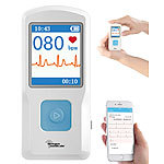 newgen medicals Mobiles EKG-Messgerät mit Bluetooth, App & PC-Software newgen medicals
