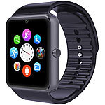 simvalley MOBILE Handy-Uhr & Smartwatch mit IPS-Display, Kamera, Bluetooth & App simvalley MOBILE Handy-Smartwatches mit Kamera und Bluetooth