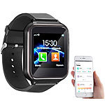 simvalley MOBILE 2in1-Handy-Uhr & Smartwatch für Android, Touch-Display, Bluetooth, App simvalley MOBILE Handy-Smartwatches mit Bluetooth